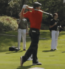 Justin Rose tee shot with a fairway wood fairway wood distance