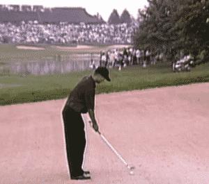Tiger Woods Fairway Bunker Clean Contact