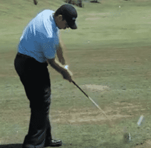 Gary Woodland just after impact driver slow backswing golf swing speed slow golf swing