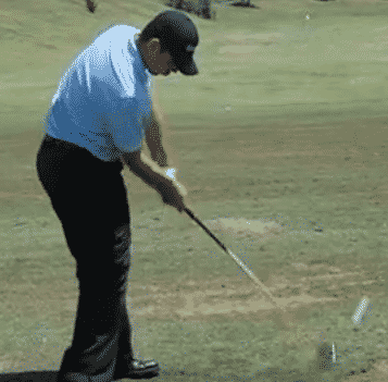Gary Woodland just after impact driver