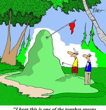 Golf Putting Tip:  Downhill Putts Have More Break Than Uphill Putts