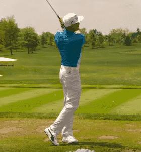 Rickie Fowler narrow stance warm up narrow golf stance width wide golf stance width
