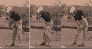 Ben Hogan golf swing sequence head still cigarette in mouth