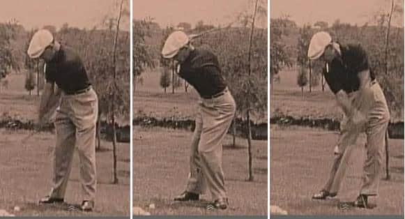 golf swing drill learn to keep your head still from ben hogan