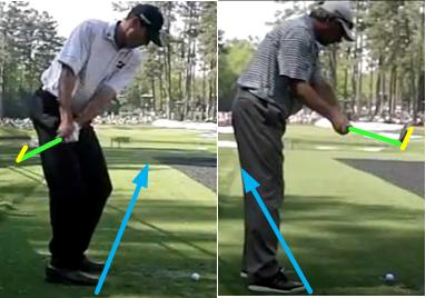 Golf Swing Video: Flat vs. Upright Backswing Plane — Matt Kuchar vs. Fred Couples