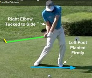 Nick Watney golf swing downswing attack the ball